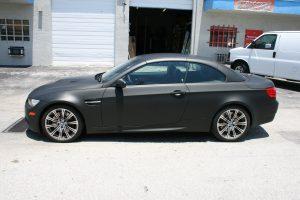 3M Matte Black Car Wrap Fort Lauderdale FL