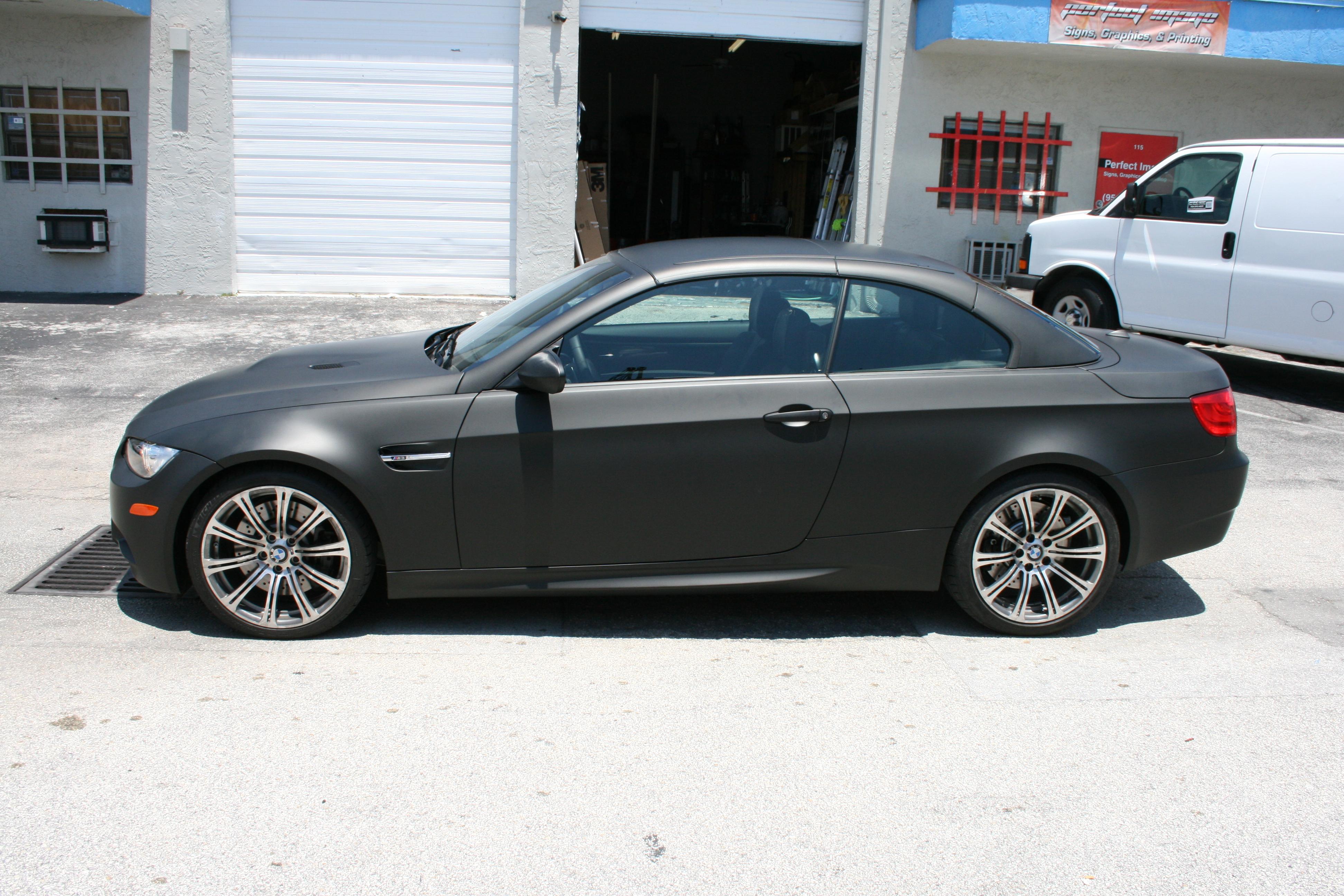 Bmw Matte Black Car Wrap Fort Lauderdale Florida