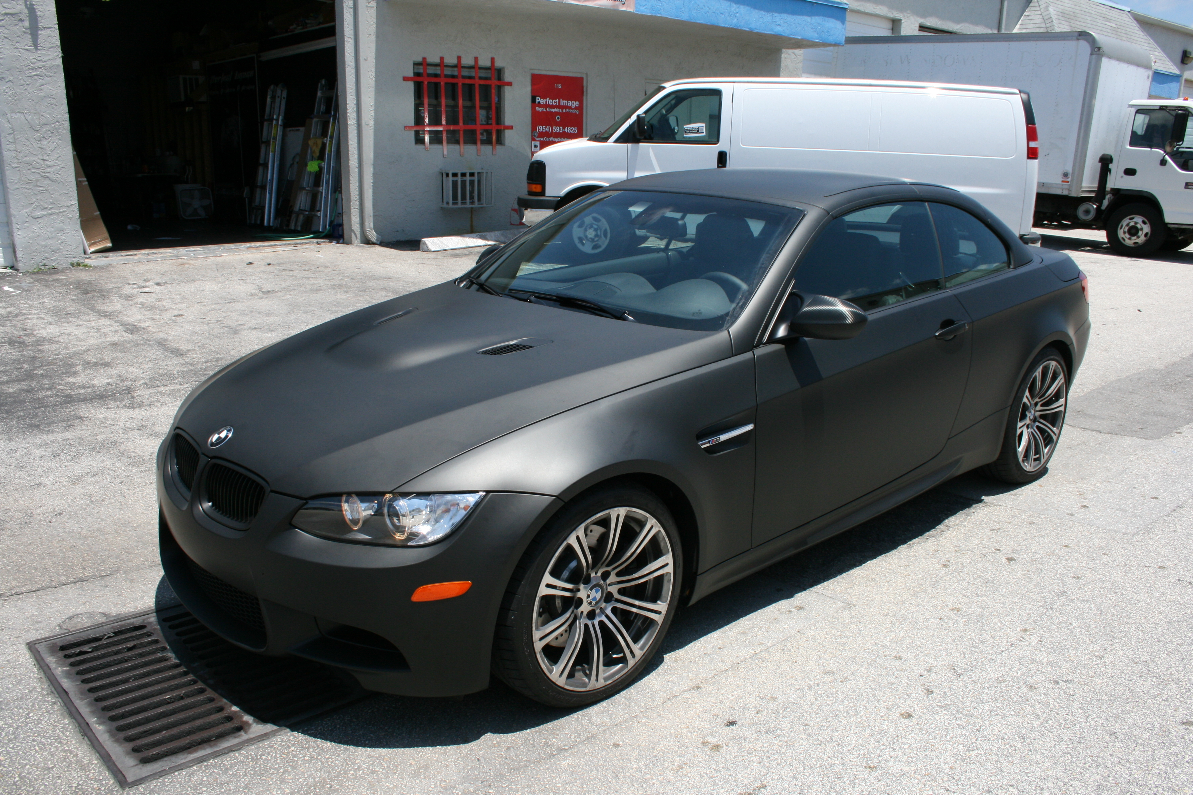 Fort Lauderdale Nissan >> BMW Matte Black Car Wrap Fort Lauderdale Florida