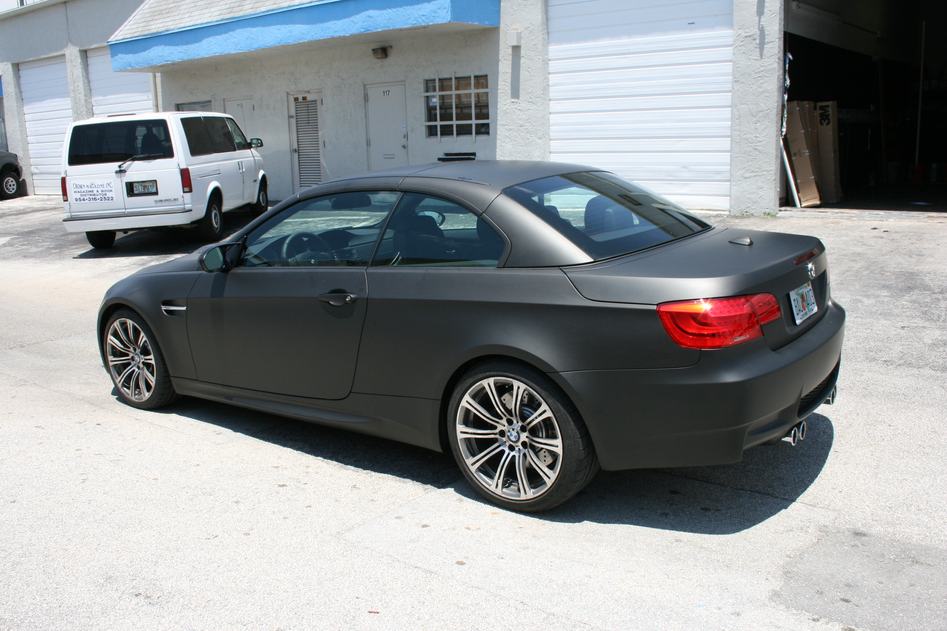 BMW Matte Black Car Wrap Fort Lauderdale Florida
