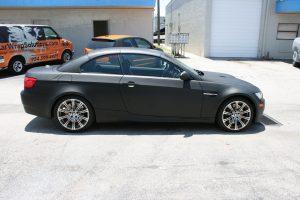 BMW Flat Black Car Wrap Fort Lauderdale Florida