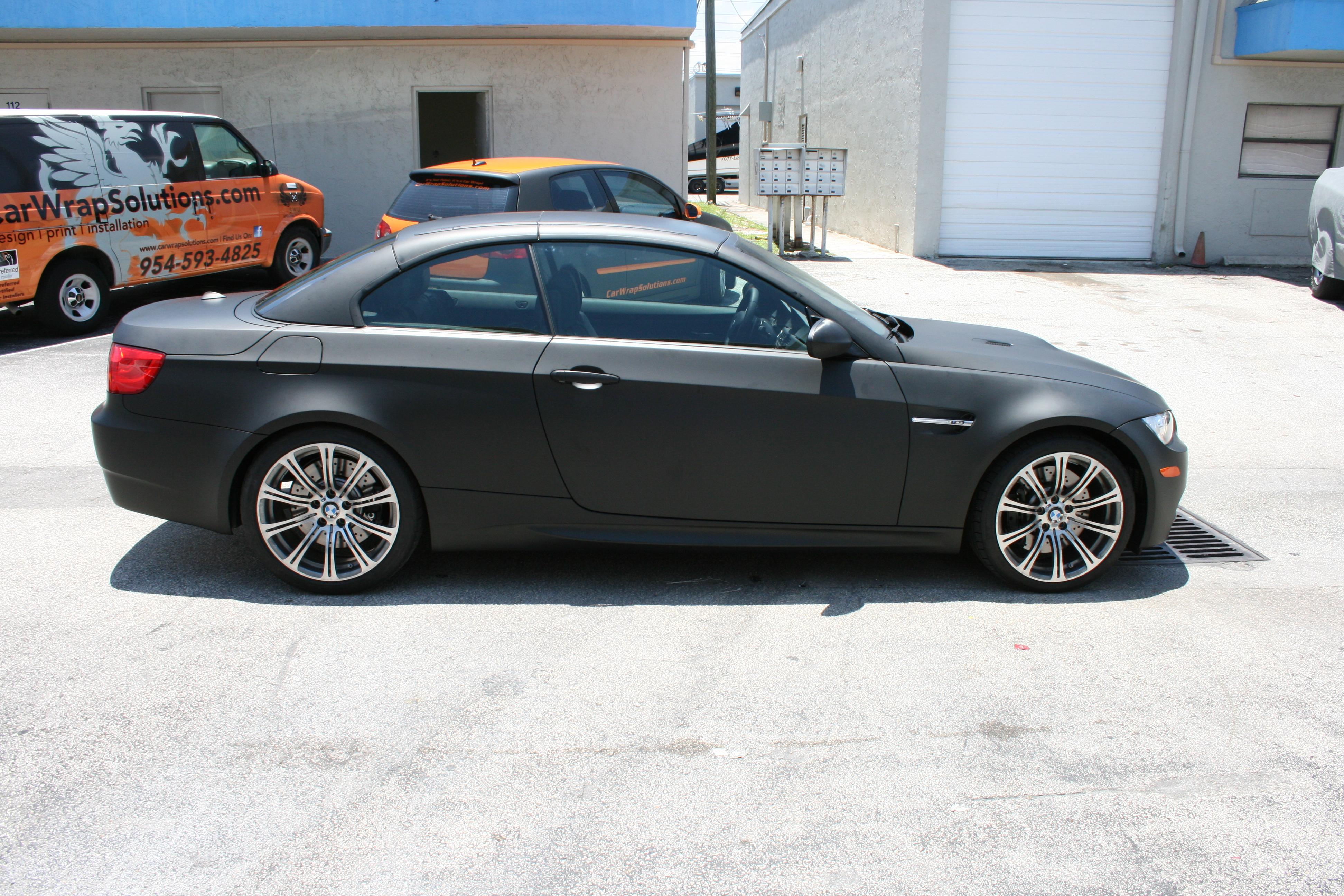 Black Car: BMW Matte Black Car Wrap Fort Lauderdale Florida