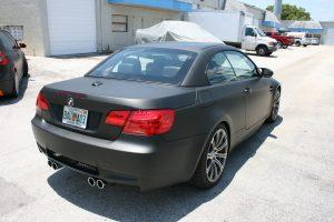 Flat Black BMW Vehicle Wrap Fort Lauderdale