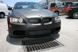 Matte Black BMW Car Wrap
