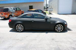 Matte Black BMW Car Wrap Fort Lauderdale