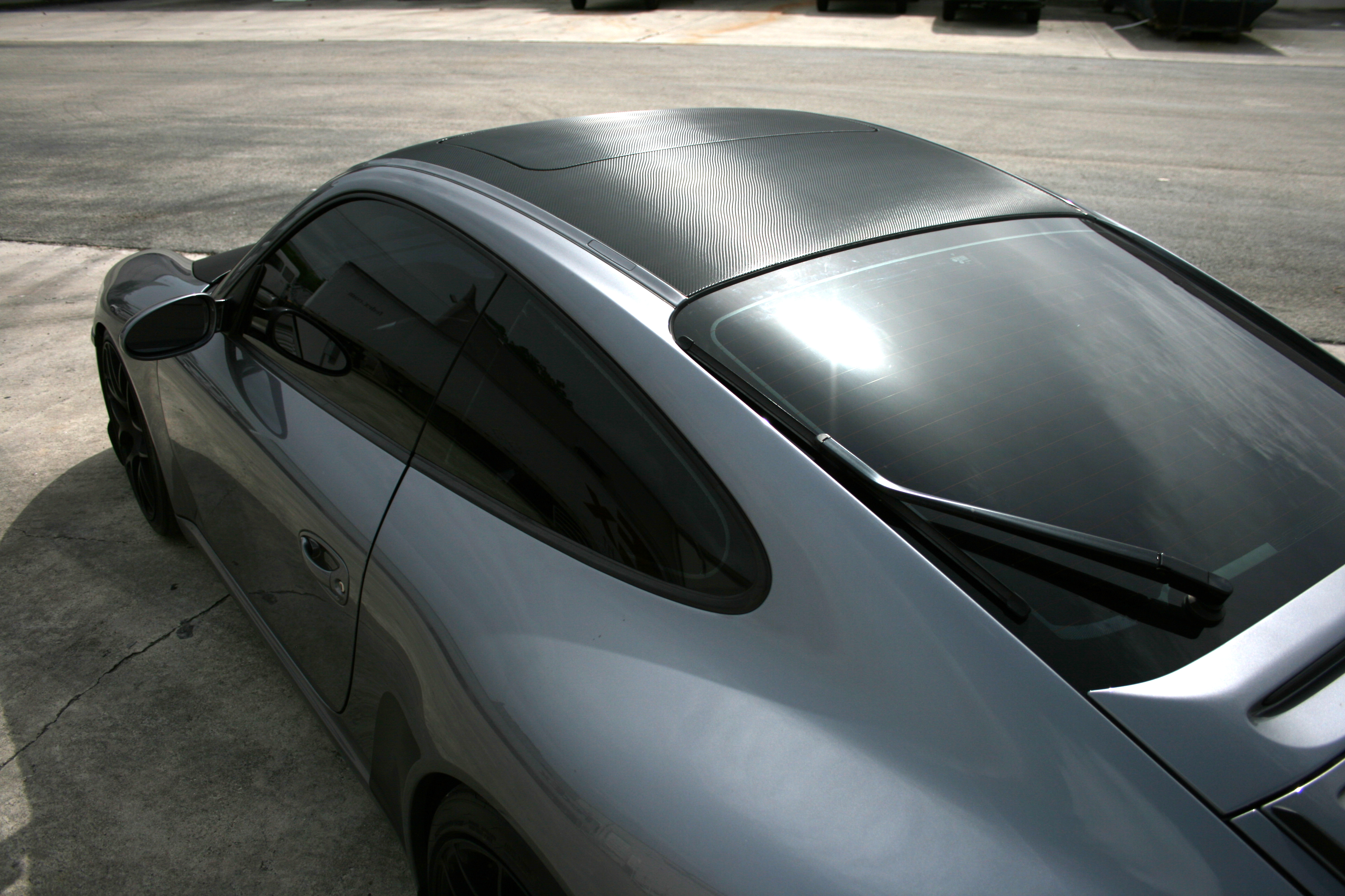 Porsche 911 Carbon Fiber Hood Amp Roof Wrap Fort Lauderdale