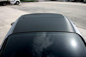 Porsche Roof Carbon Fiber Wrap