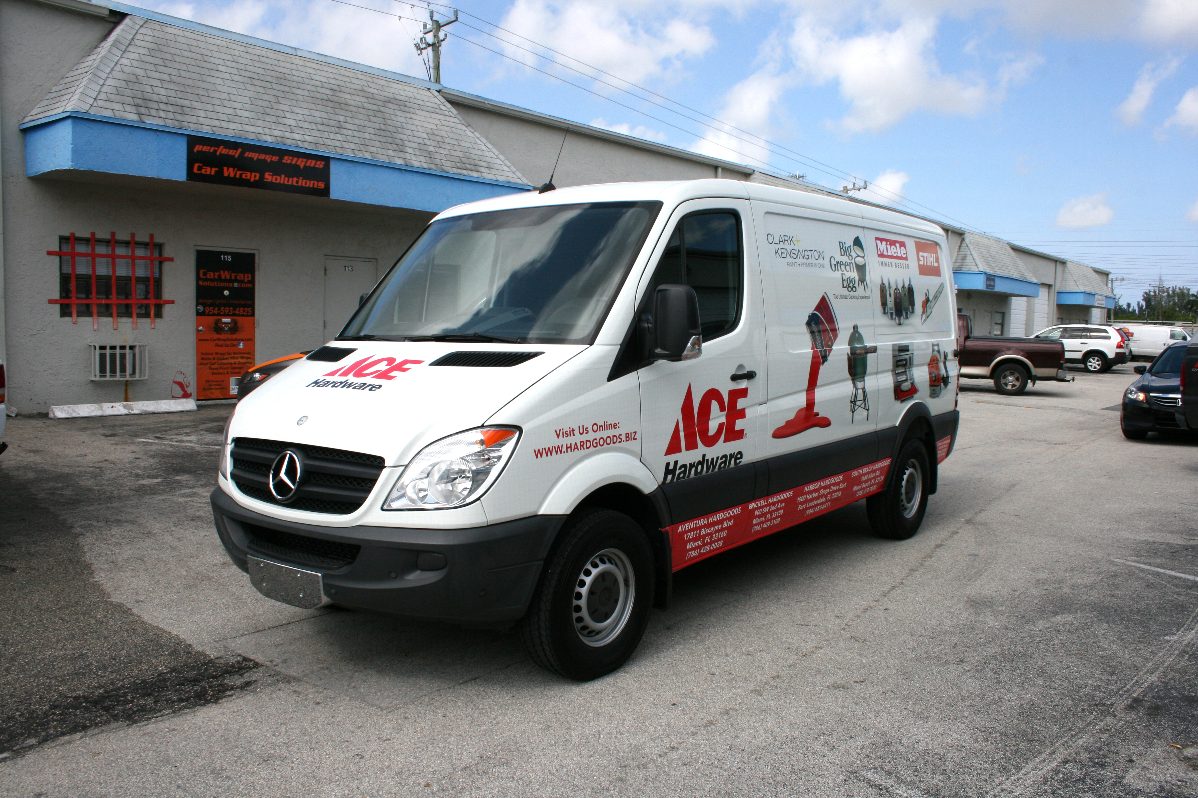 Mercedes Sprinter Work Van >> Sprinter Van Wrap Fort Lauderdale Florida Ace Hardware Hardgoods