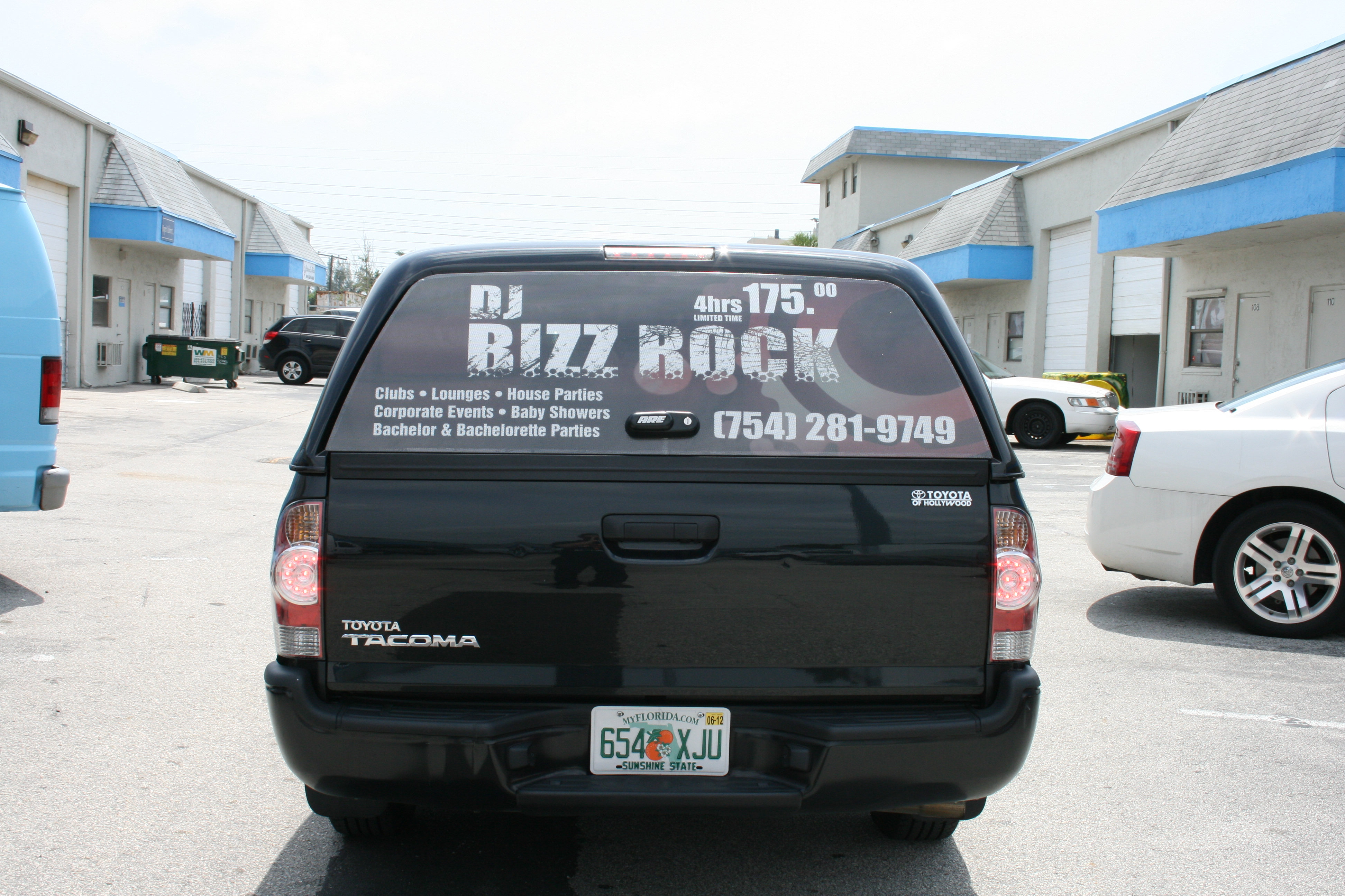 Back window advertising wrap fort lauderdale