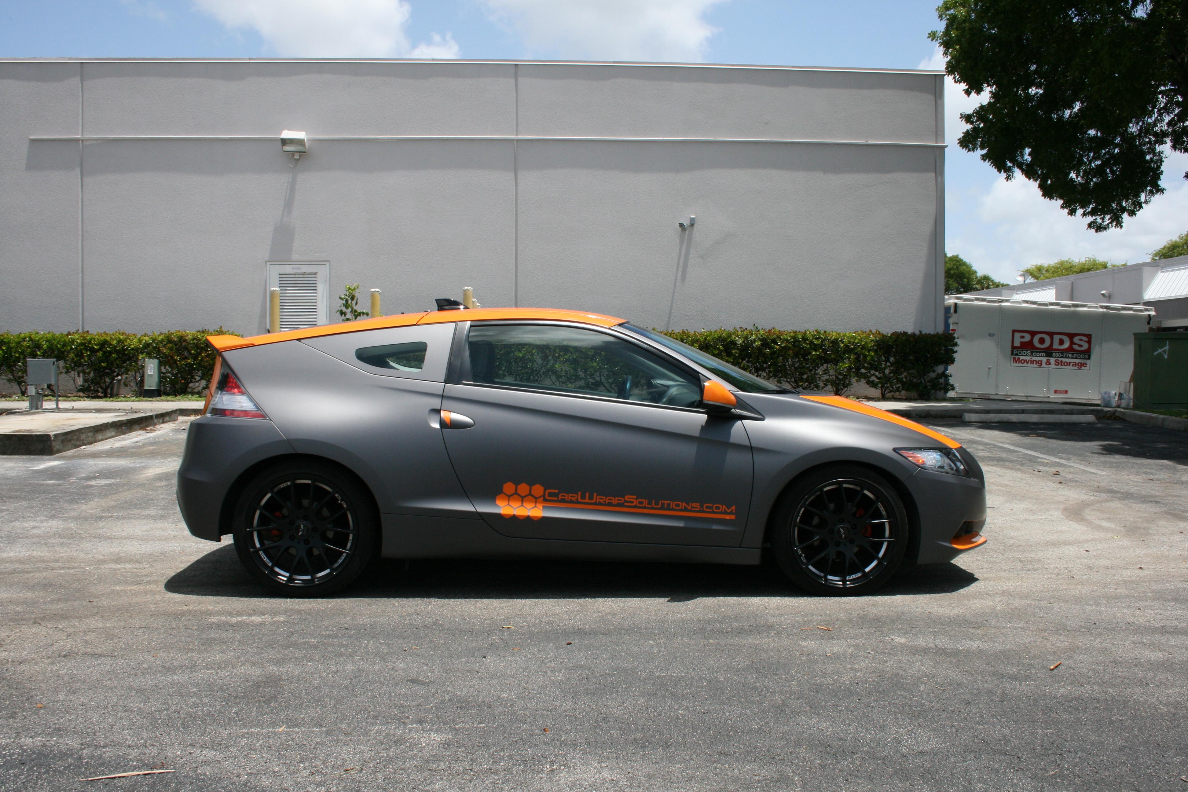 Miami Custom Honda Crz Matte Grey Car Wrap