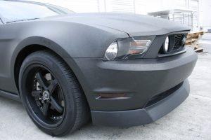 Ford Mustang GT matte black car wrap fort lauderdale florida