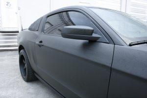 Ford Mustang flat black matte vehicle wrap fort lauderdale florida