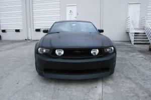 Ford Mustang flat matte wrap Fort Lauderdale