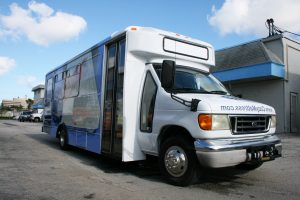 Hotel Shuttle Bus Vinyl Wrap Miami Florida