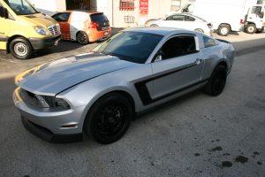 Matte Black Ford Mustang car wrap fort lauderdale