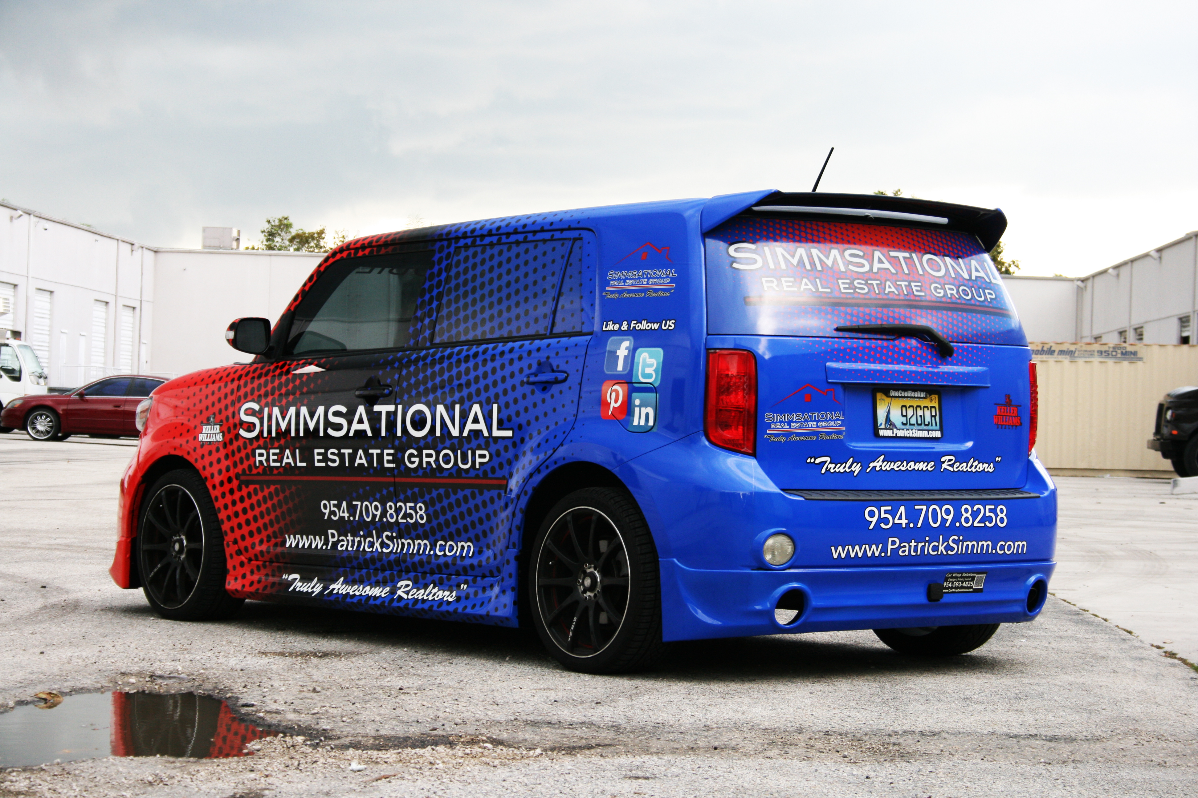 Car Real Estate: Vehicle Wrap Pembroke Pines Florida Simmsational Real Estate