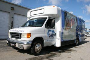 Shuttle Bus Vinyl Wrap Miami Florida