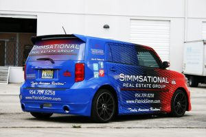 Simmsational Vehicle Wrap Pembroke Pines