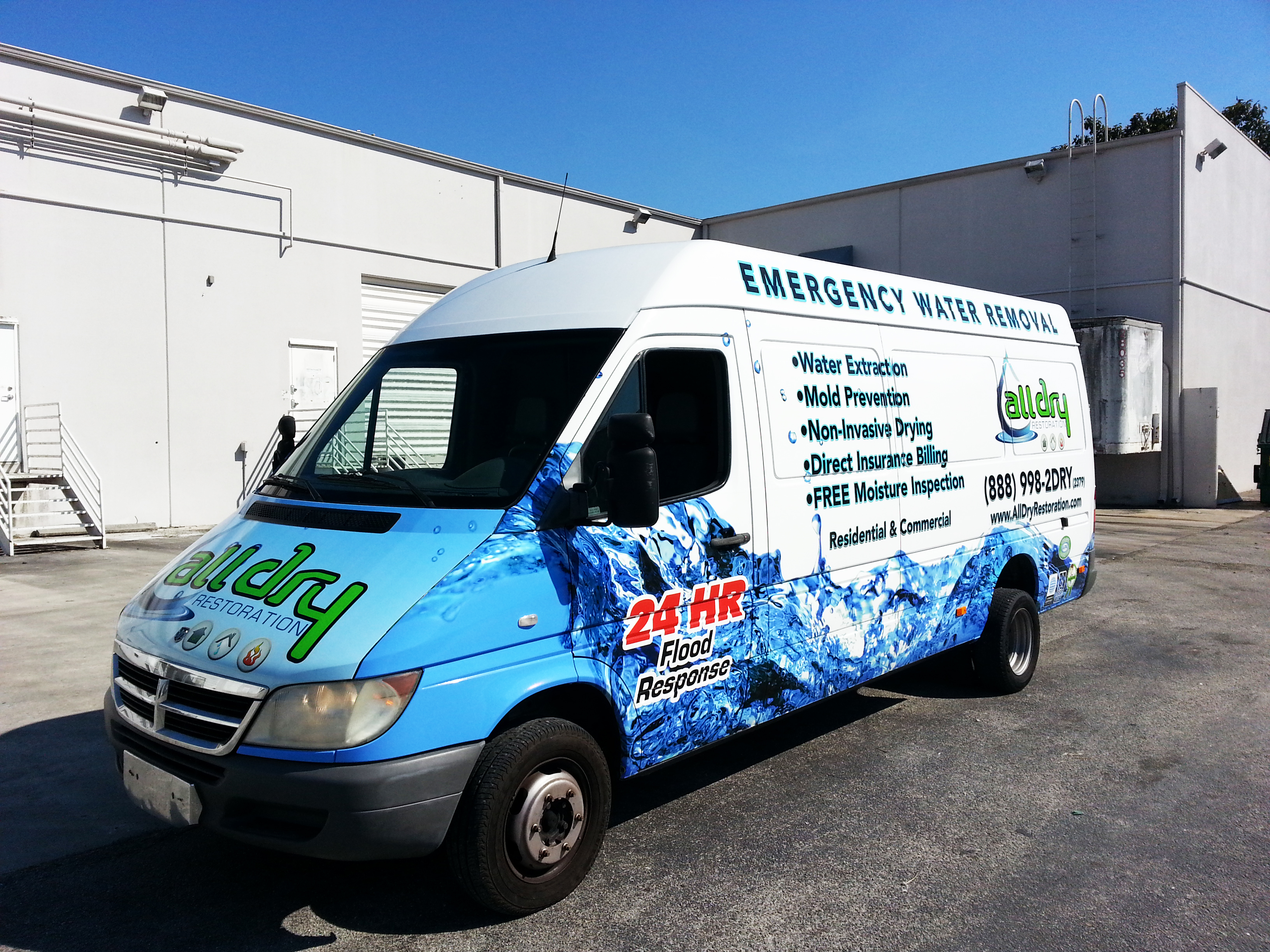 Sprinter Van Vehicle Wrap Hollywood Florida on van wraps graphics
