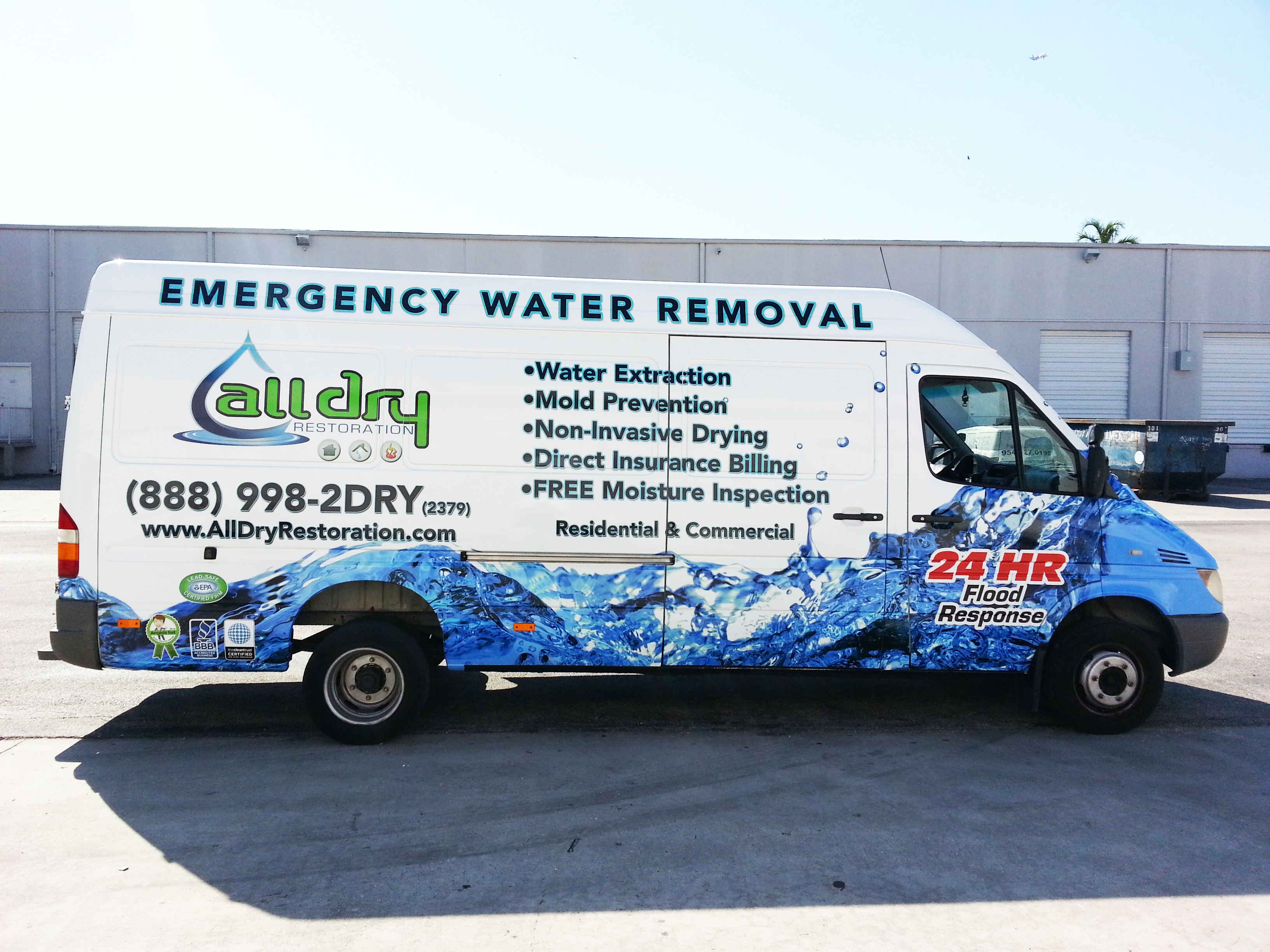 Sprinter Van Vehicle Wrap Hollywood Florida | All Dry ...