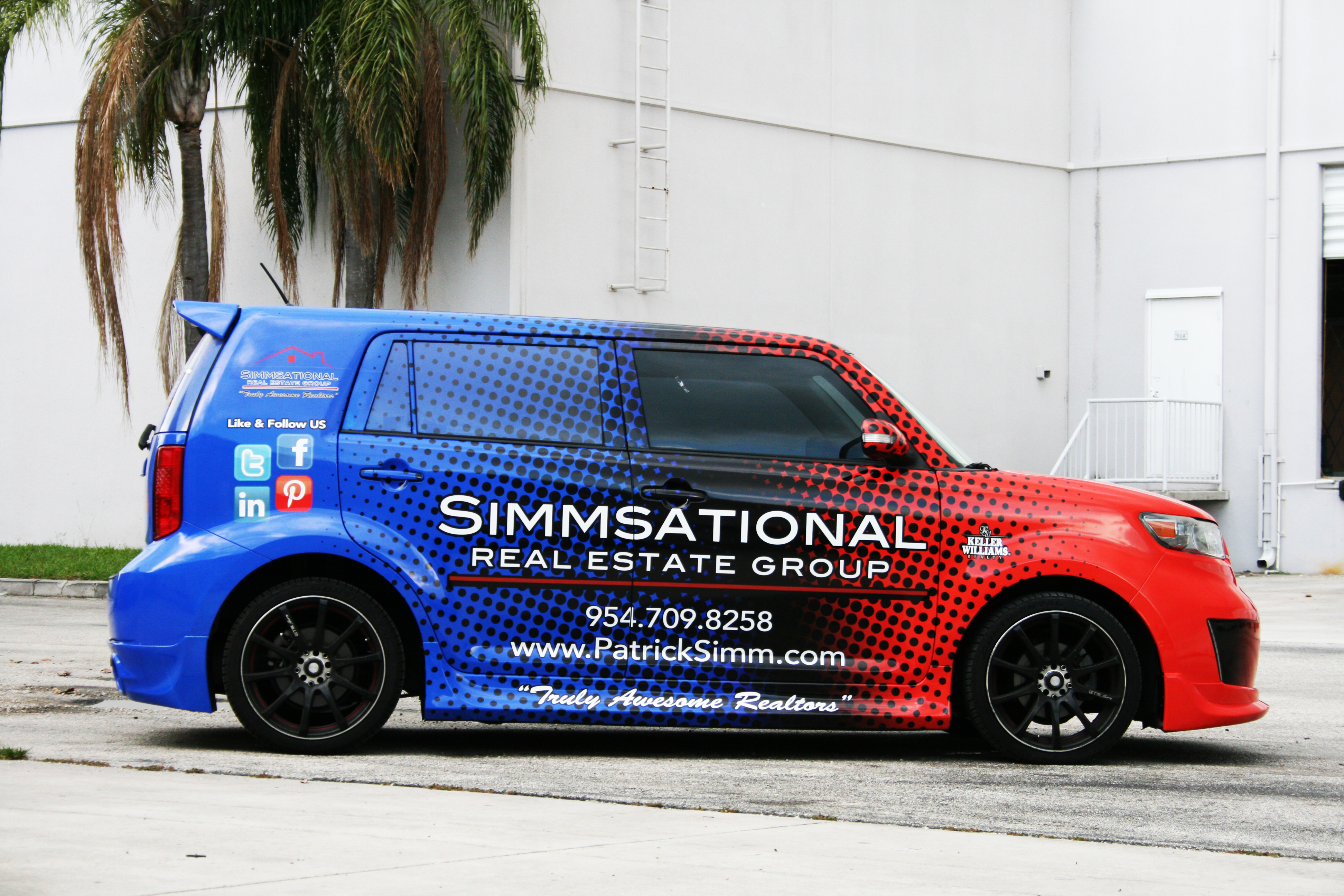 Vehicle Wrap Pembroke Pines Florida Simmsational Real Estate