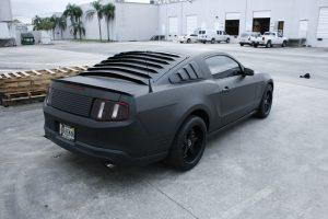 flat black wrap Mustang GT Miami Florida