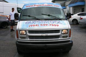 Air conditioning vehicle wrap Davie Florida