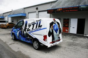 Aztil Air Conditioning Car Wrap Wellington Florida