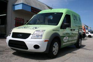 Fort Lauderdale Ford Transit Connect Vinyl Wrap