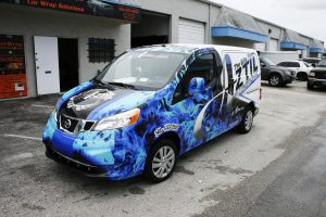 HVAC car wrap palm beach florida