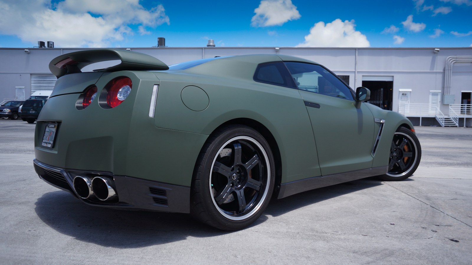 Custom Nissan Gtr Matte Car Wrap Miami Florida
