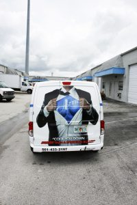 Palm Beach Air Conditioning Vehicle Wrap