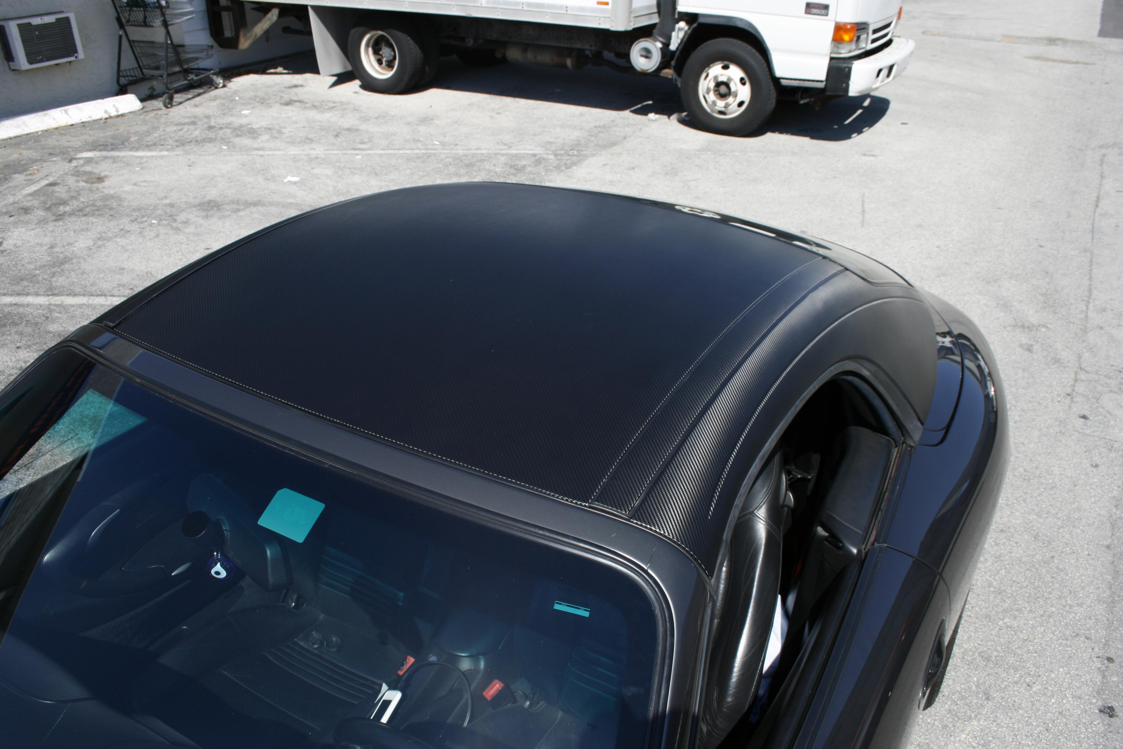 ... Porsche Carbon Fiber Roof Wrap Coral Gables Florida ...