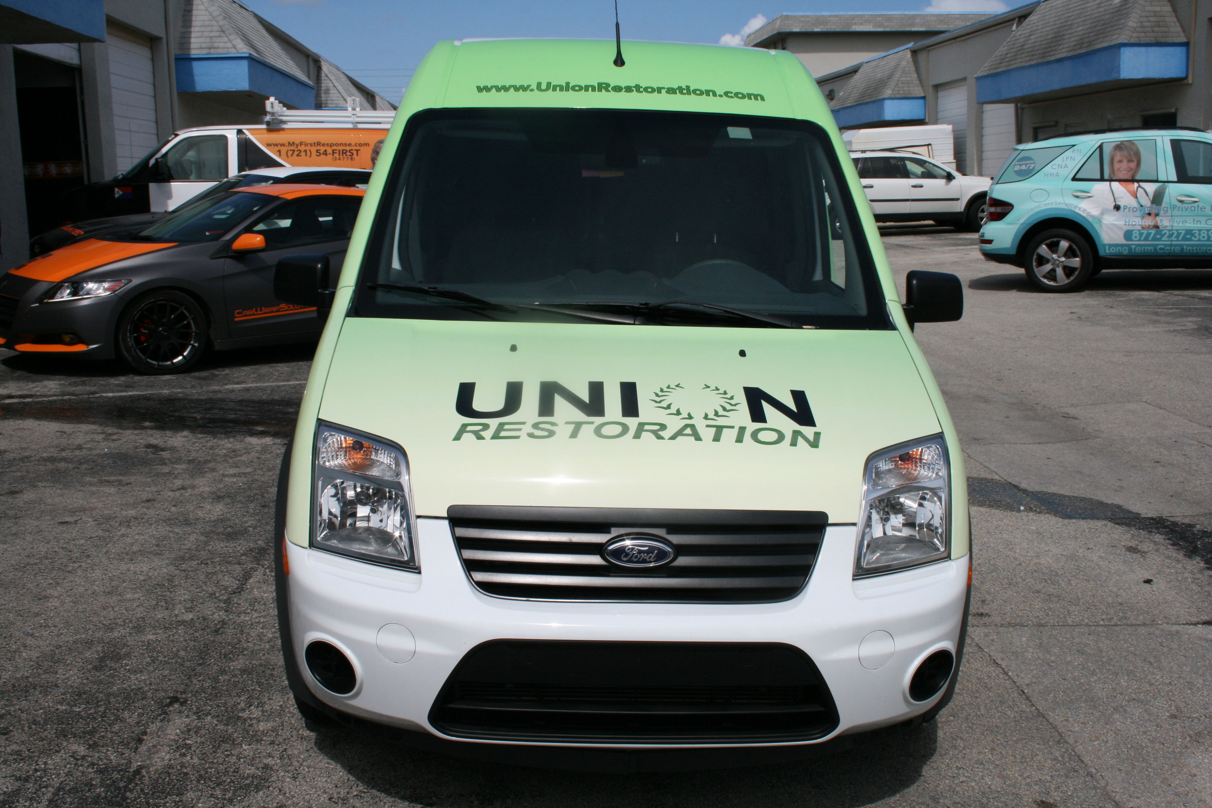 Ford Transit Connect Van >> Mold Restoration Ford Transit Connect 3M Vinyl Vehicle Wrap Fort Lauderdale Florida