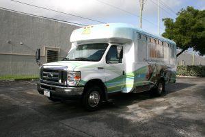 Shuttle bus vinyl wrap Fort Lauderdale