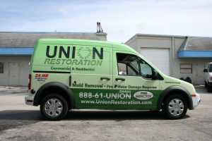 Union Restoration vehicle wrap Davie Florida