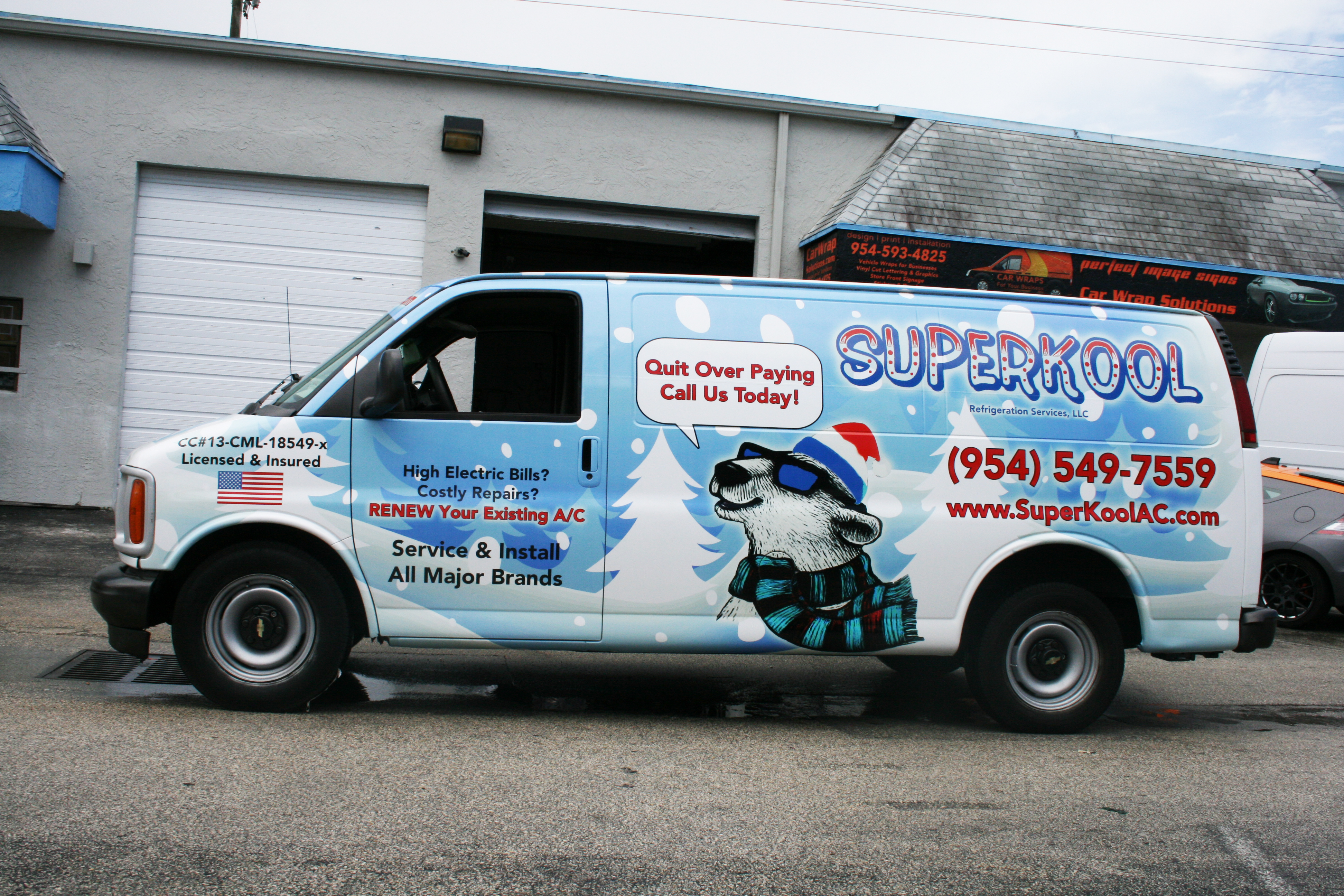 Hvac Air Conditioning Car Wrap Fort Lauderdale Florida Superkool