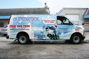 air conditioning 3M vehicle wrap fort lauderdale