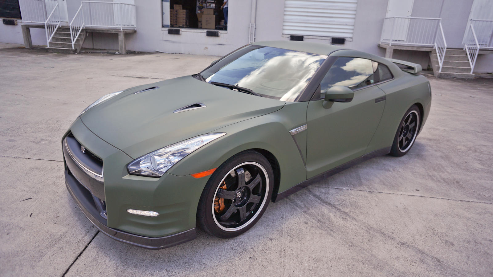 Custom Nissan GTR Matte Car Wrap Miami Florida Car Wrap