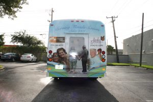 shuttle bus vehicle wrap Fort Lauderdale