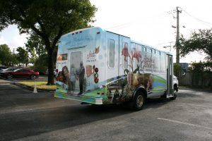 shuttle bus wrap installation Fort Lauderdale