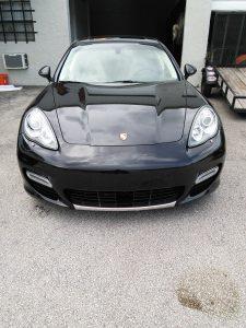 Porsche Panamera Chrome Front Spoiler Wrap