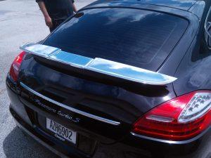 Porsche Panamera Chrome Vinyl Spoiler Wrap