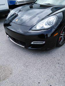 Porsche Panamera Chrome Wrapped Front Spoiler
