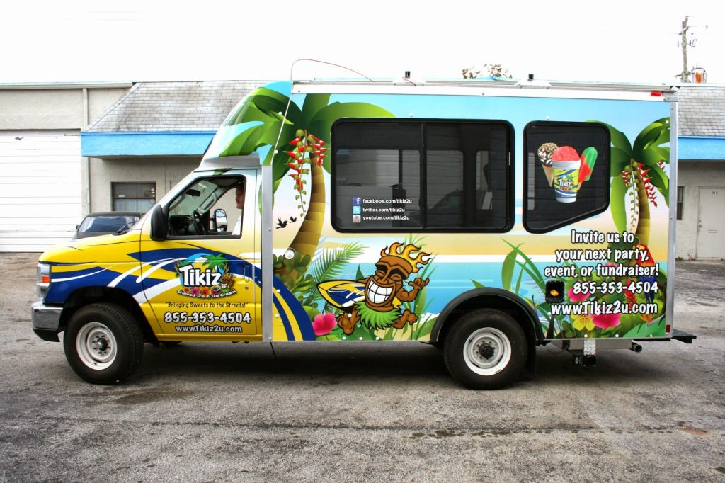 Fort Lauderdale Custom Food Truck Vinyl Graphic Wrap