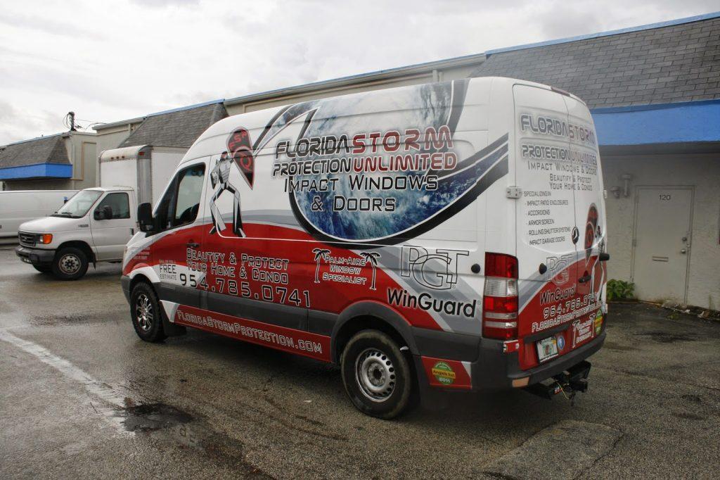 Mercedes Benz Sprinter Van 3m Vinyl Wrap Advertising