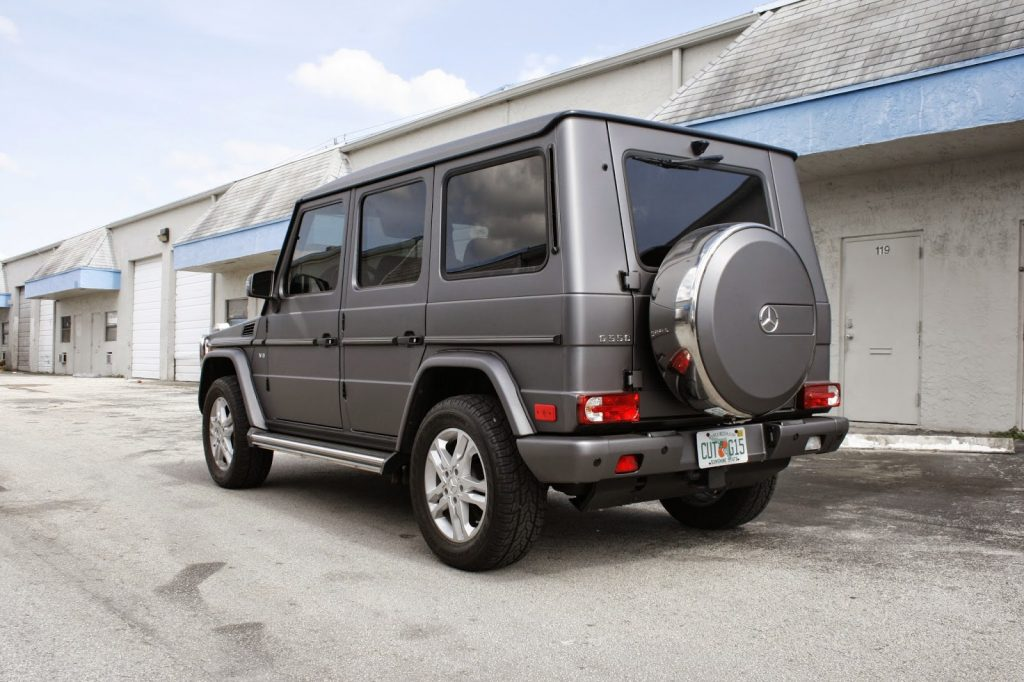 Mercedes benz g500 wagon matte vinyl wrapped vehicle for Miami mercedes benz dealers