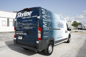 Dodge Promaster cargo van business wrap Davie
