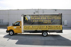 Box truck vehicle wrap Miami Florida