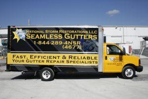 Commercial box truck vinyl wrap Miami Florida